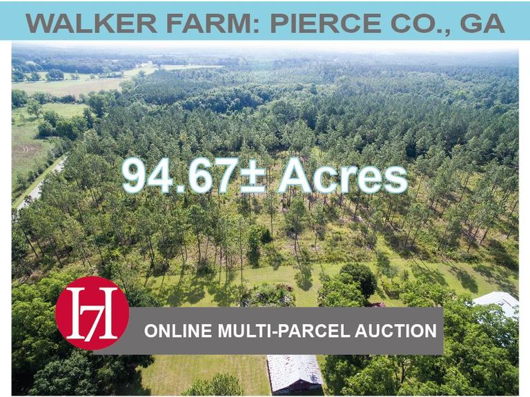 Walker Farm: 94.67± Acres, Pierce County, GA