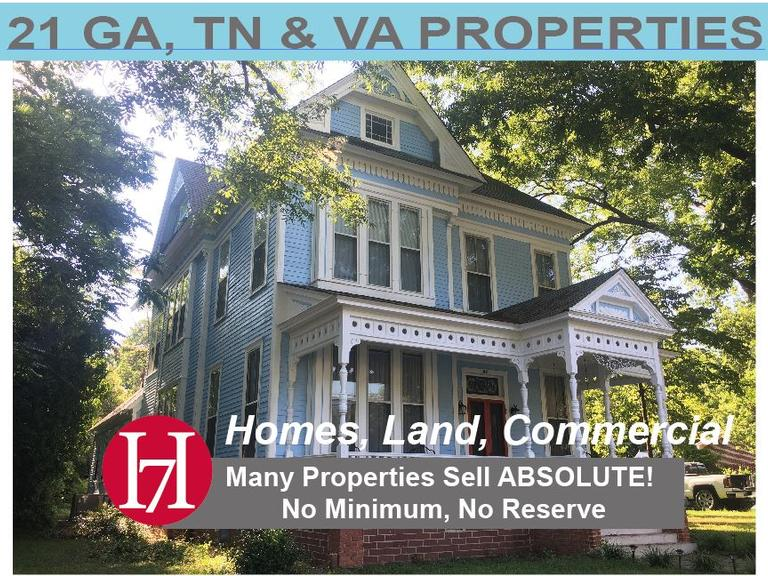 21 GA, TN & VA Properties Selling by Order of Financial Institutions, Private Equity Groups and Other Highly Motivated Sellers