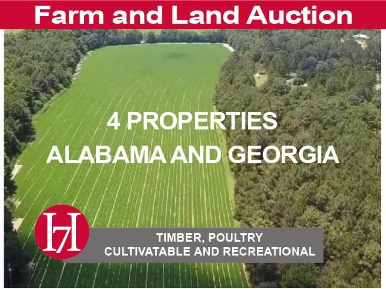 Farm and Land Auction: 4 Farms Across Georgia and Alabama