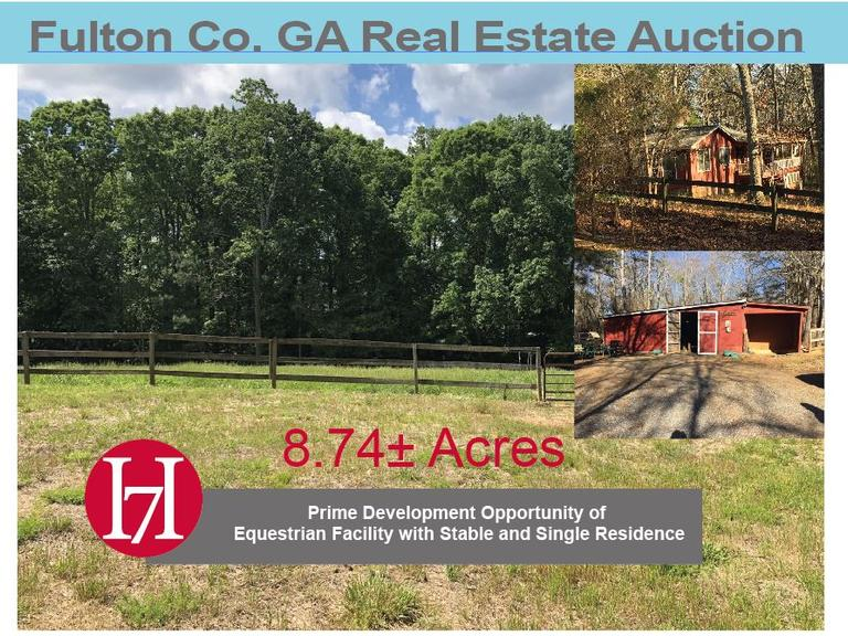 Prime Development Opportunity of Equestrian Facility with Stable and Single Family Residence: Alpharetta (City of Milton), GA