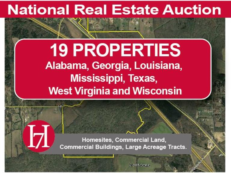 National Real Estate Auction: 19 Properties Selling by Order of Banks, Equity Funds, and Other Highly Motivated Sellers