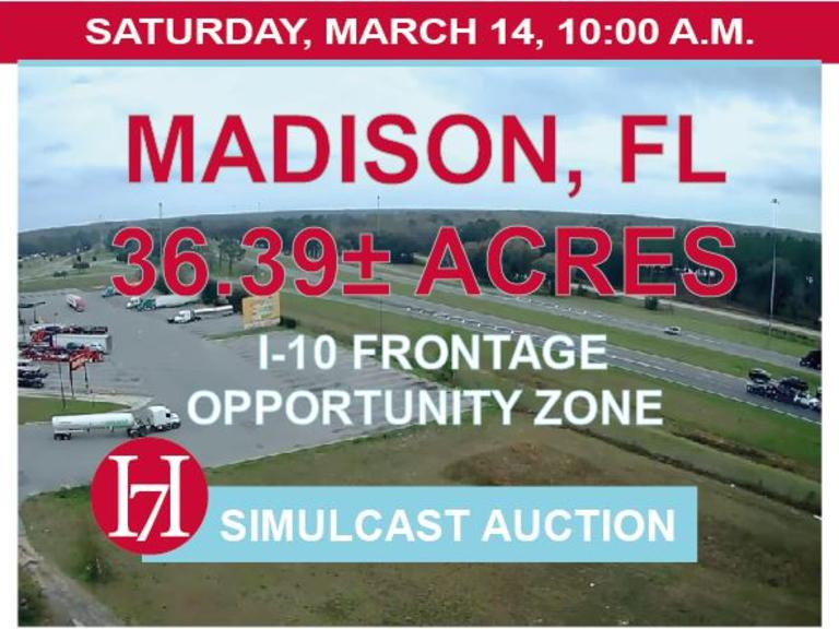 Madison Tract: 36.39 AC, Madison, FL on I-10