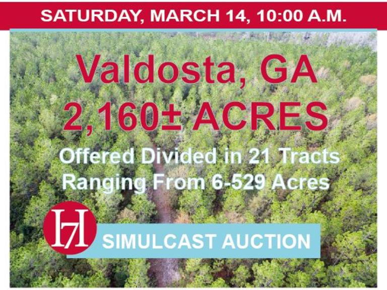 Oliver Tract: 2,160± Acres, Valdosta, GA, Offered Divided in 21 Tracts